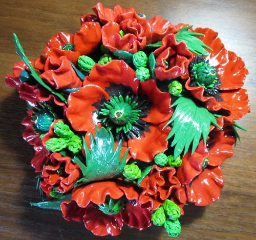 Поделка букет цветов из пластилина 61